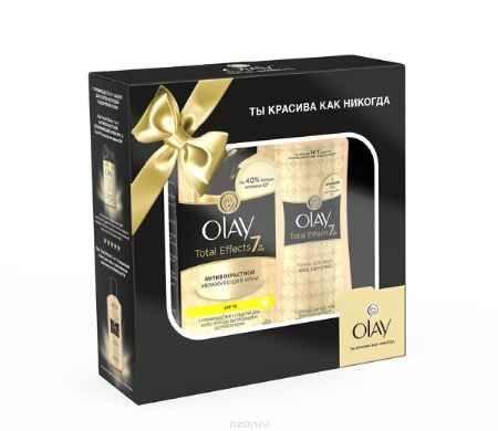 Купить Olay Total Effects Подарочный набор антивозрастной увлажняющий крем SPF 15 (50 мл) + Olay Total Effects тоник для лица Age Defying (200 мл)