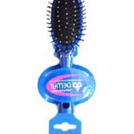 Купить Dewal Расческа массажная, с пластиковыми зубцами. DW9555P1-H2P BLUE