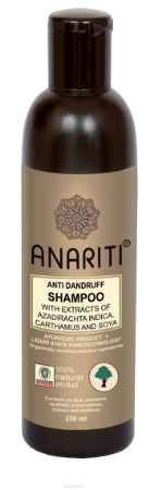 Купить Anariti шампунь против перхоти с экстрактами нима, дикого шафрана и сои, 250 г