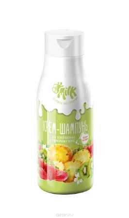 Купить Milk Крем-шампунь Бодрящий мультифрукт для ослабленных и нормальных волос, 500 мл