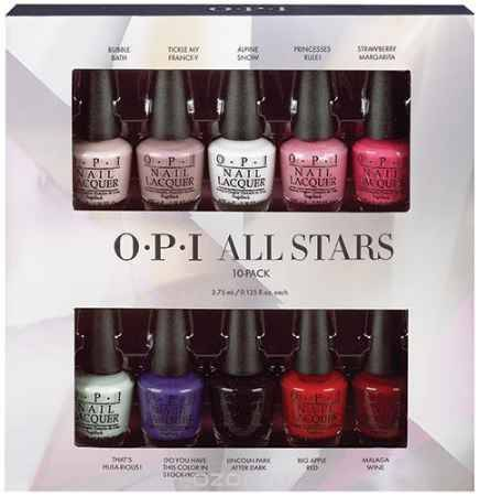 Купить OPI Набор Мини лаков All Stars NLM23/L00/S86/F16/R44/H65/N47/N25/L87/W42, 10шт*3,75 мл