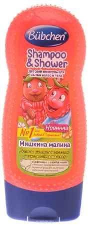 Купить Bubchen Шампунь детский для волос и тела Мишкина малина 230 мл