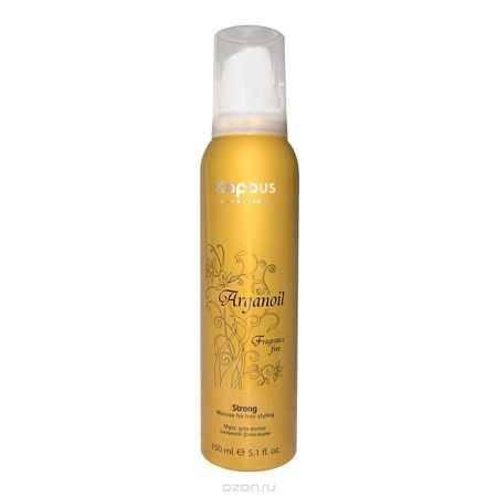 Купить Kapous Мусс аэрозольный для волос сильной фиксации с маслом арганы Arganoil 150 мл