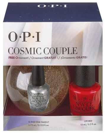 Купить OPI Набор лаков Cosmic Couple NLL72 15 мл, HRG 43 3.75 мл+новогодний шарик OPI