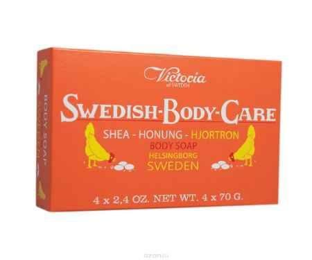 Купить Victoria Soap Shea-Honung-Hjortron Мыло для тела с морошкой, 4х70 г