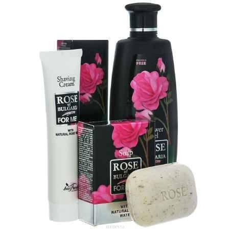 Купить Rose of Bulgaria for men Подарочный набор мужской: гель для душа-шампунь 2 в 1, 230 мл, мыло для мужчин, 100 г, крем для бритья, 75 мл