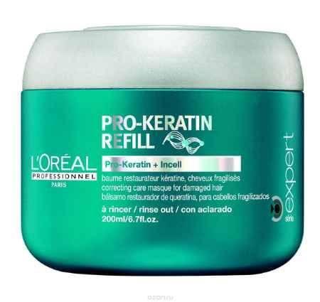 Купить L'Oreal Professionnel Восстанавливающая и укрепляющая маска для поврежденных волос Expert Pro-Keratin Refill Masque - 200 мл