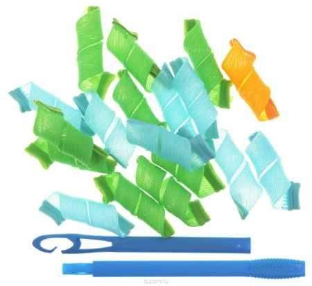 Купить Magic Leverag Бигуди маленькие, 18 х 15 см, цвет: зеленый, голубой, оранжевый