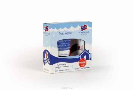 Купить Neutrogena Норвежская формула Подарочный набор: Крем-уход для рук и ногтей 75мл + Бальзам-помада 4,8г в подарок