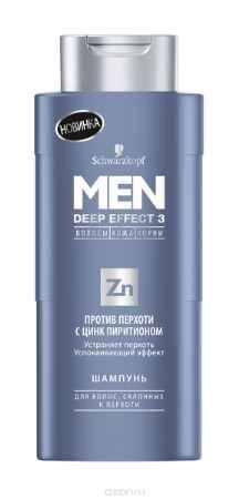 Купить MEN DEEP EFFECT 3 Шампунь Против перхоти с цинком, 250 мл