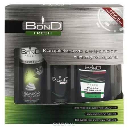 Купить Bond Мужской Подарочный Набор Fresh (дезодорант DEO 150 мл + лосьон после бритья AS 100 ML+ пена для бритья PDG 50 ML)