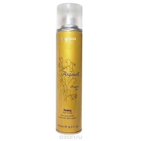 Купить Kapous Лак аэрозольный для волос сильной фиксации с маслом арганы Arganoil 250 мл