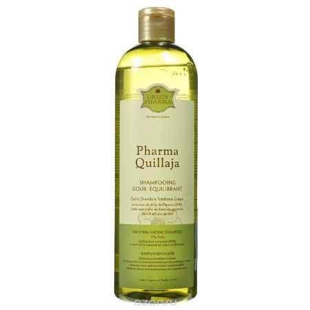Купить Greenpharma PharmaQuillaja Шампунь для мягкости волос, для ежедневного использования, для жирной кожи головы, 500 мл