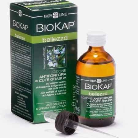 Купить BioKap Лосьон против перхоти и жирных волос с экстрактами кактуса, агавы и ментолом, 50 мл