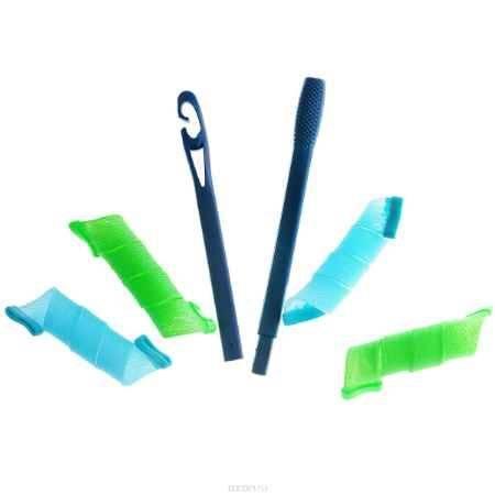 Купить Бигуди широкие 30 см, цвет: голубой, зеленый. (Ш30