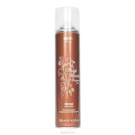 Купить Kapous Лак аэрозольный для волос нормальной фиксации с кератином Magic Keratin 250 мл