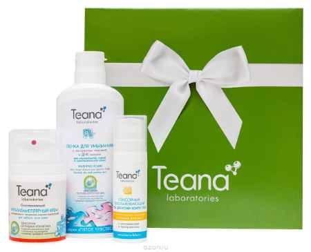 Купить Teana Подарочный набор (Р1 Пенка для умывания с персиком 150 мл, CD Омолаживающий крем 50 мл, О3 Омолаживающий гель для кожи вокруг глаз 25 мл)