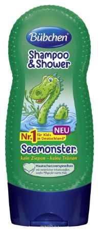 Купить Bubchen Шампунь для мытья волос и тела Зеленый монстр 230 мл