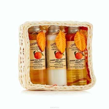 Купить OrganicTai (НАБОР) Натуральный шампунь для волос «МАНДАРИН» 120 мл, Натуральный бальзам-кондиционер «МАНДАРИН» 120 мл, Натуральный гель для душа «МАНДАРИН», 120 мл (120 мл*3)