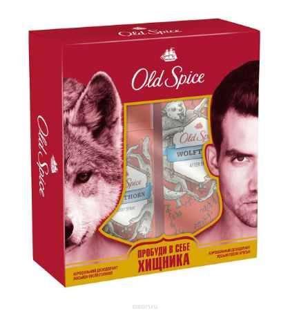 Купить Old Spice Подарочный набор WOLFTHORN: Аэрозольный дезодорант 125 мл + Лосьон после бритья 100мл
