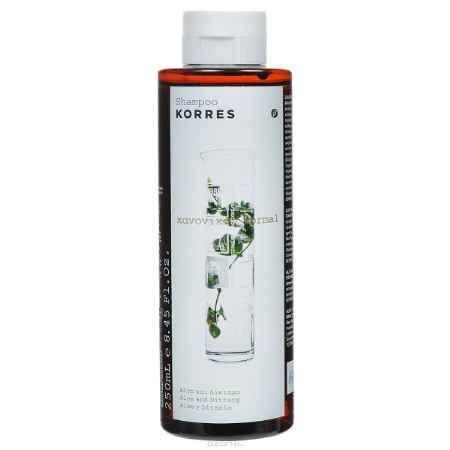 Купить Korres Шампунь для нормальных волос, с алоэ и диким бадьяном, 250 мл