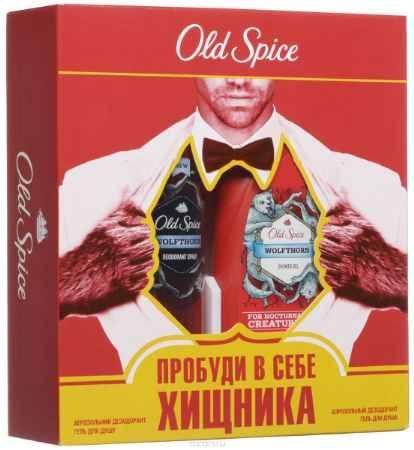 Купить Old Spice Подарочный набор WOLFTHORN : Аэрозольный дезодорант 125 мл + Гель для душа 250мл