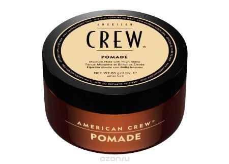 Купить American Crew Помада со средней фиксацией и высоким уровнем блеска для укладки волос Pomade 85 г