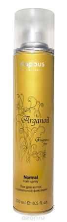 Купить Kapous Лак аэрозольный для волос нормальной фиксации с маслом арганы Arganoil 250 мл