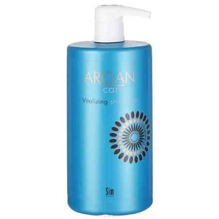 Купить SIM SENSITIVE Увлажняющий шампунь для окрашенных и поврежденных волос Argan Care Vitalizing Shampoo Арган Кеа Виталайзинг 1000 мл