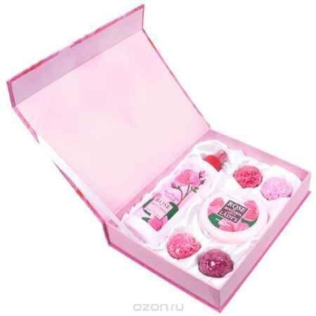 Купить Rose of Bulgaria Подарочный набор № 1: натуральная розовая вода, 230 мл, натуральное мыло ручной работы «Роза», 4*30 г, крем для лица, 100 мл