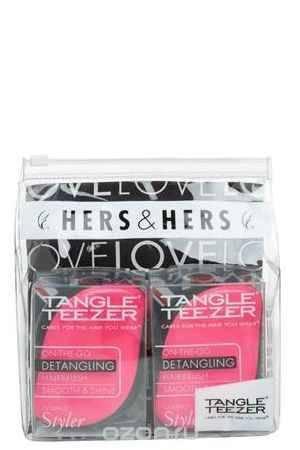 Купить Tangle Teezer Набор расчесок для волос Compact Styler Hers&Hers
