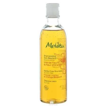 Купить Melvita Нежный восстанавливающий шампунь для тонких и сухих волос Мед и Цветы апельсина, 200 мл