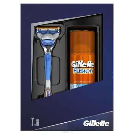 Купить Gillette Подарочный набор Fusion: (Бритва Fusion + Гель для бритья Fusion HydraGel)
