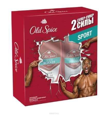 Купить Old Spice Подарочный набор ODOR BLOCKER SPORT : Аэрозольный дезодорант-антиперспирант 125мл + Гель для душа 250мл