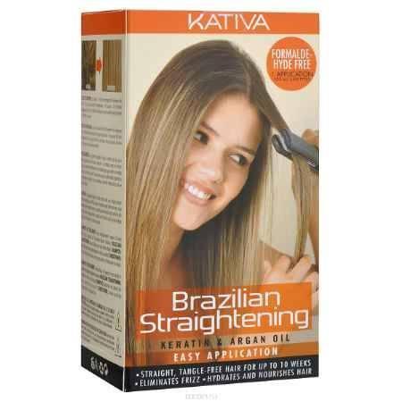Купить Kativa Набор для бразильского выпрямления волос, с маслом арганы, 4 шт