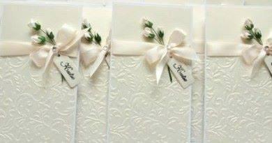 Нежные приглашения на свадтбу