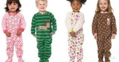 Виды детских пижам