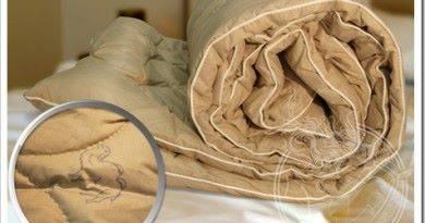 Осуществление ухода за одеялом из верблюжьей шерсти