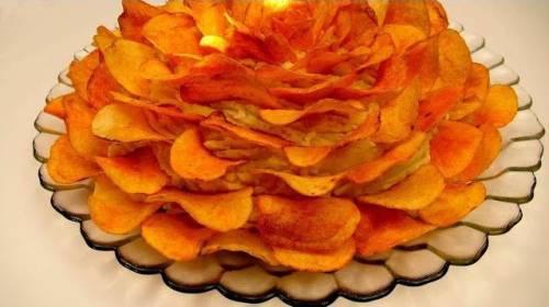 Салат роза из чипсов рецепт с