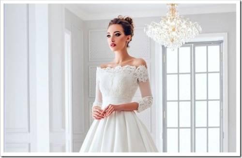 Атласные свадебные платья - тренд 2017 года