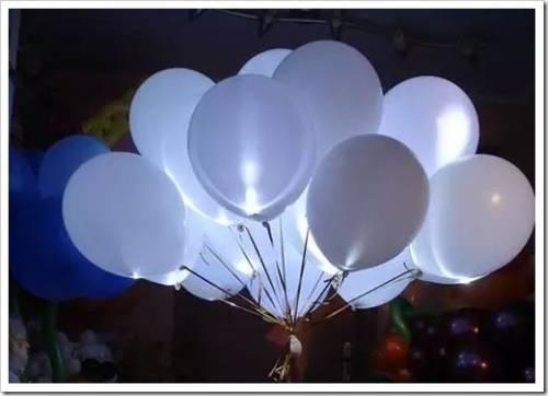 Украшения в виде светящихся шаров