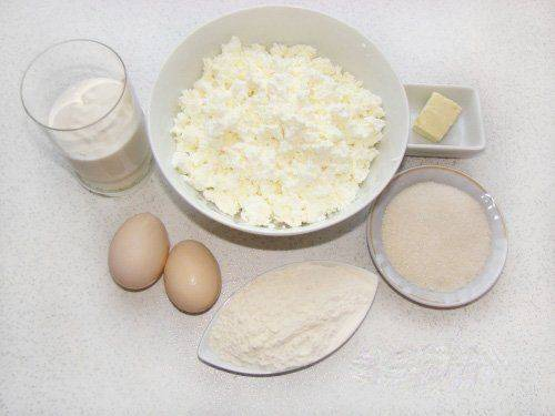ингридиенты для сырников