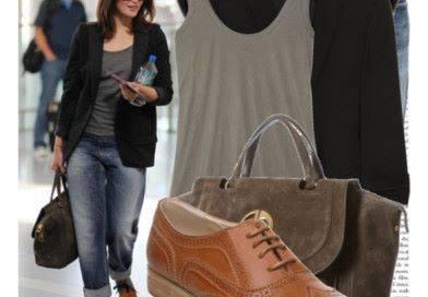 С чем носить коричневые женские ботинки