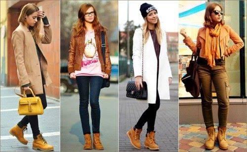 с чем носить коричневые ботинки
