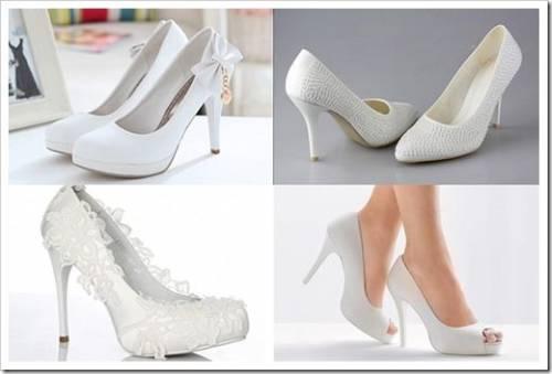 Как подобрать туфли к свадебному платью
