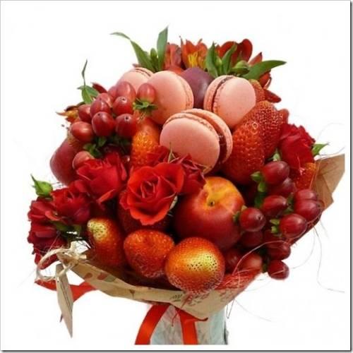 Создаём букет вместе с фруктами