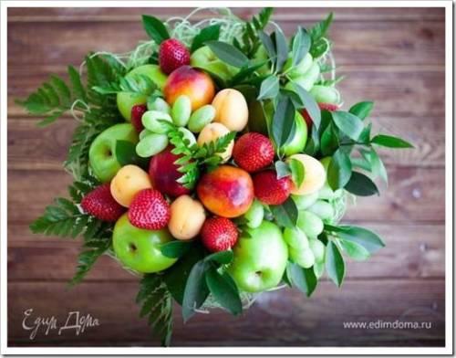 Как обеспечить максимально привлекательный внешний вид букету из фруктов?