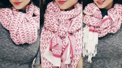 Как завязывать женский шарф