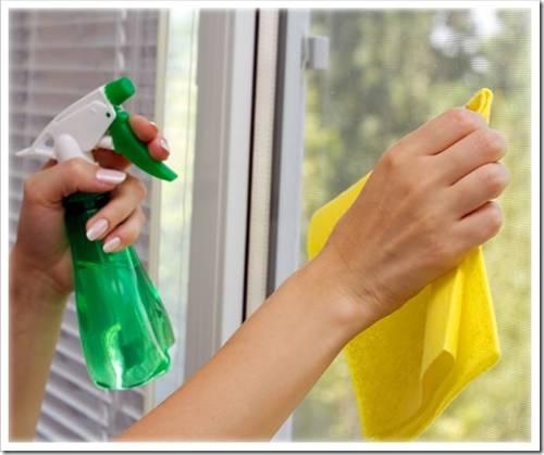 Как правильно мыть пластиковые окна?