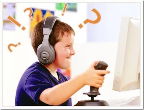 ребенок много играет в компьютерные игры